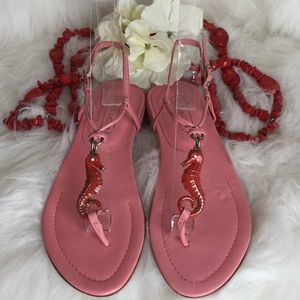 Rare Coach Seahorse Ankle Strap Sandals